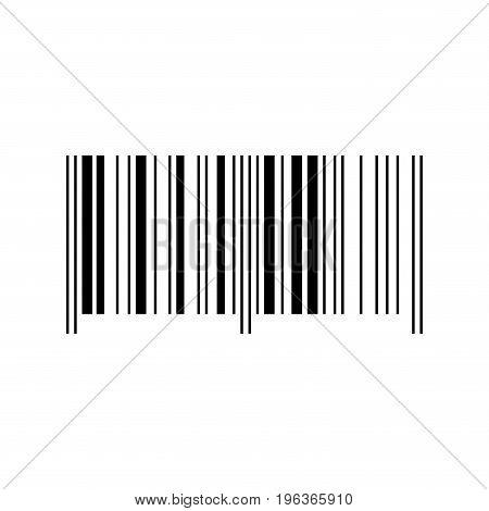 Black barcode vector illustration on white background