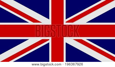 Flag of United Kingdom of Great Britain and Northern Ireland. UK flag aka Union Jack. Vector illustration.