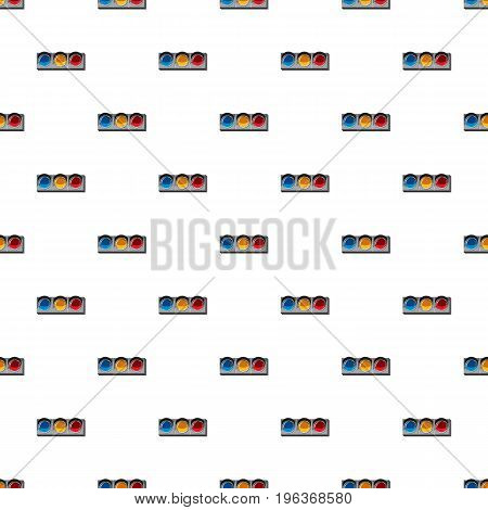 Sport traffic light pattern seamless repeat in cartoon style vector illustration