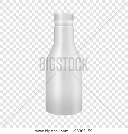 White yogurt or milk plastic bottle mockup. Realistic illustration of white yogurt or milk plastic bottle vector mockup for web