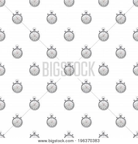 Stopwatch pattern seamless repeat in cartoon style vector illustration