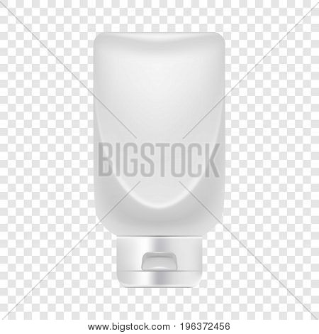 Big creme tube icon. Realistic illustration of big creme tube vector icon for web