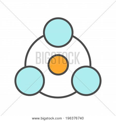 Sharing color icon. Abstract metaphor. Isolated vector illustration
