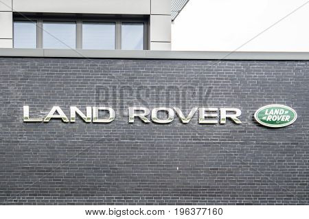 Hamburg , Germany - July 13 2017: Land Rover is a car brand that specialises in four-wheel drive vehicles
