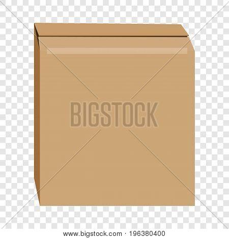 Cardboard box mockup. Realistic illustration of cardboard box vector mockup for web