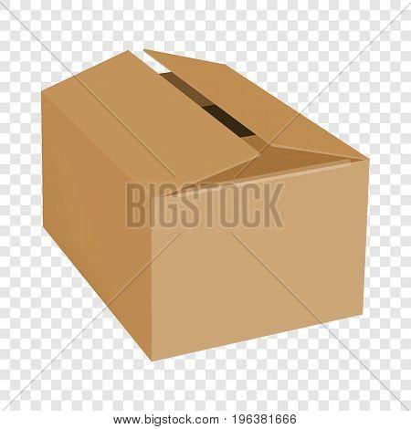 Empty box mockup. Realistic illustration of empty box vector mockup for web