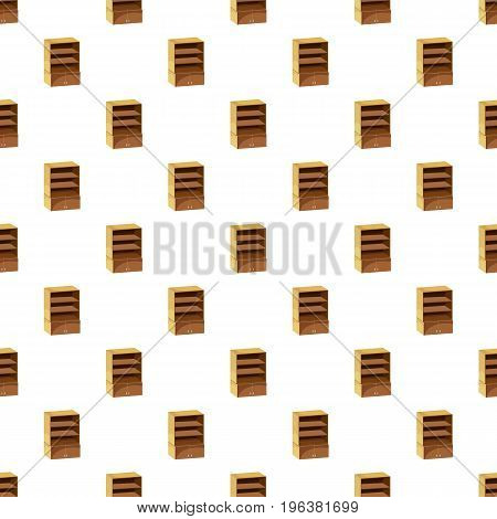 Wardrobe with shelves pattern seamless repeat in cartoon style vector illustration