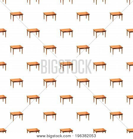 Table pattern seamless repeat in cartoon style vector illustration