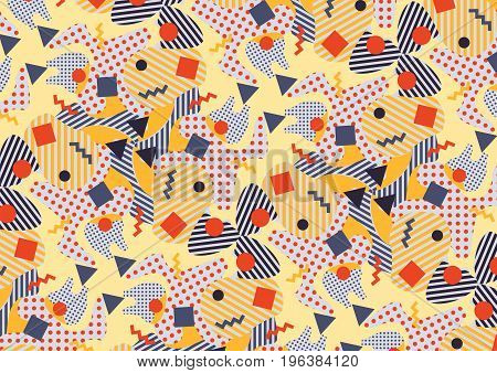 Abstract pattern in the style of the eighties.Vector illustration.