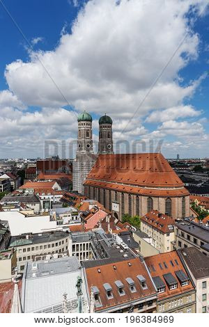 Old Town of Munich with the Cathedral of Our Lady, Frauenkirche