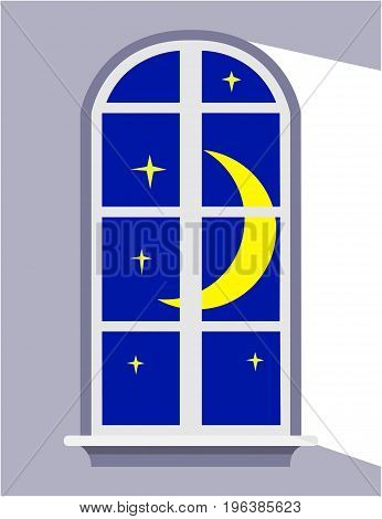Night window the moonlight for your design, Goodnight.