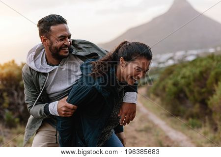 Young Couple Having Fun On Vacation