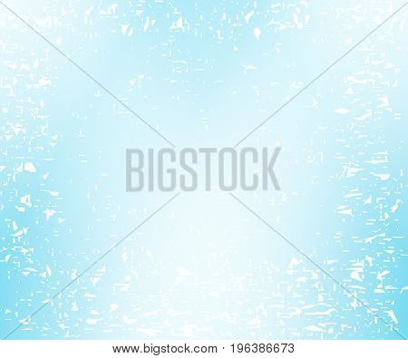 Pale blue speckled background. Vector background with splashes