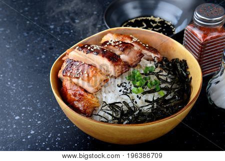 Rice With Teriyaki  Grill Chicken.