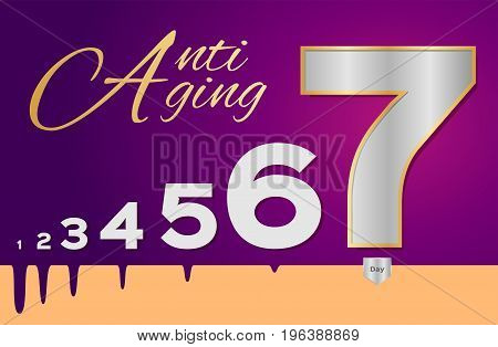 anti aging in seven day vector on white background