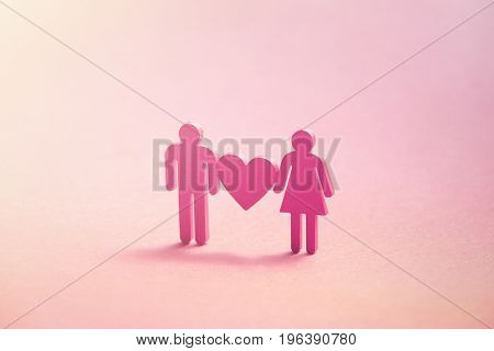 3d illustration of male loving with female