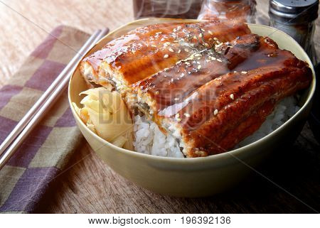 Rice With Teriyaki Chicken Grill .