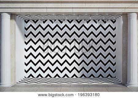 Blank Zigzag Window Display