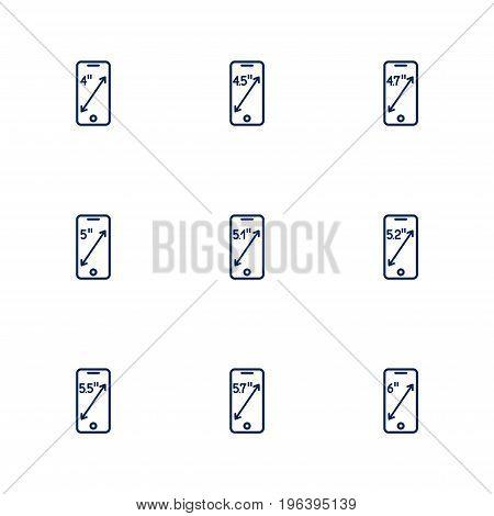 A Picture Depicting Different Diagonals Of Smartphones Screens