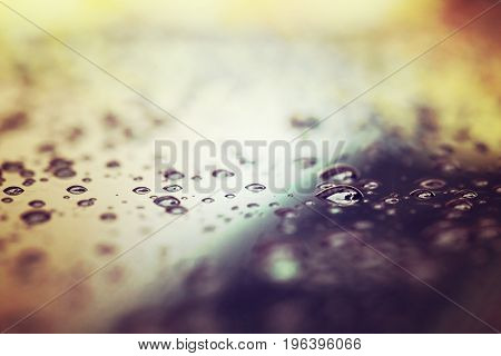 Abstract water drop, selective focus, vintage color.