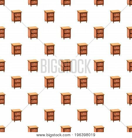 Chest of drawers pattern seamless repeat in cartoon style vector illustration