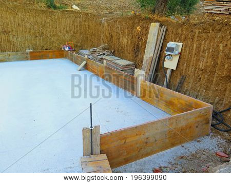 Dug Out Base For New House In Andalusian Village
