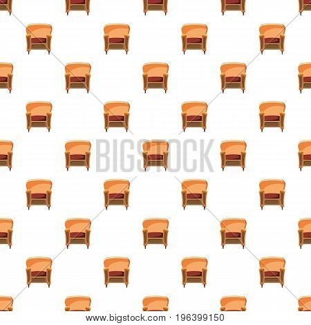 Chair with wood trim pattern seamless repeat in cartoon style vector illustration