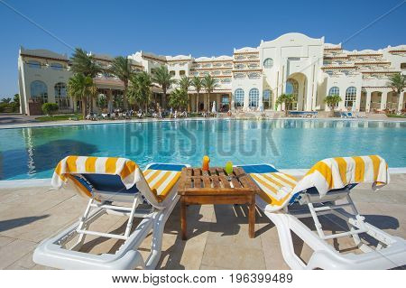 Large Swimming Pool At Luxury Tropical Hotel