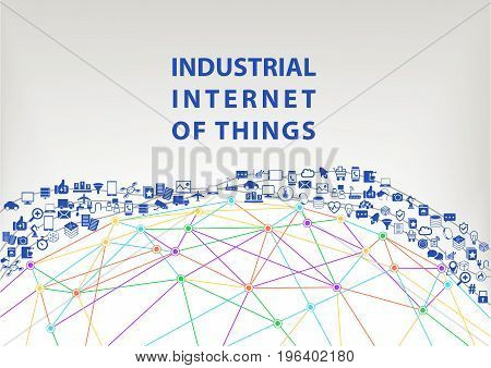 Industrial internet of things vector illustration background