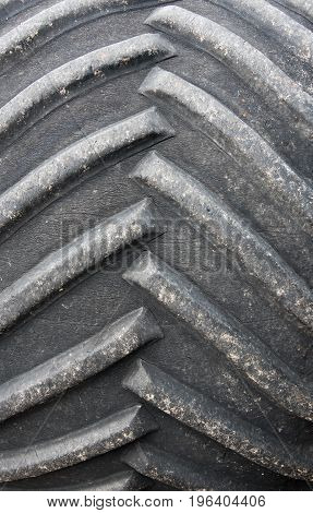 Close up view of a large tyre