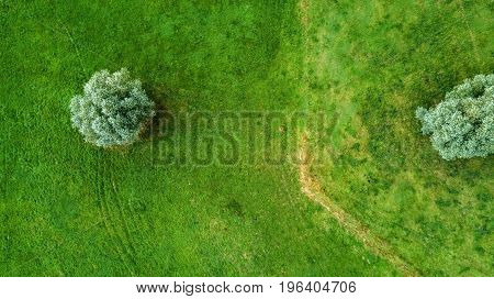 Drone Flight In The Summer Above The Are Of Aachen With Its Fields, Forest And Meadows