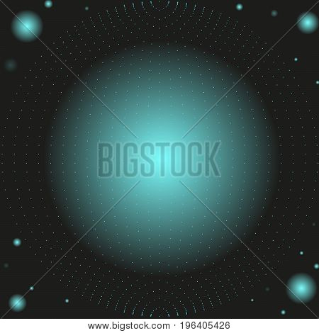 An abstract background with a sphere and light effects. EPS 10 file and Jpg