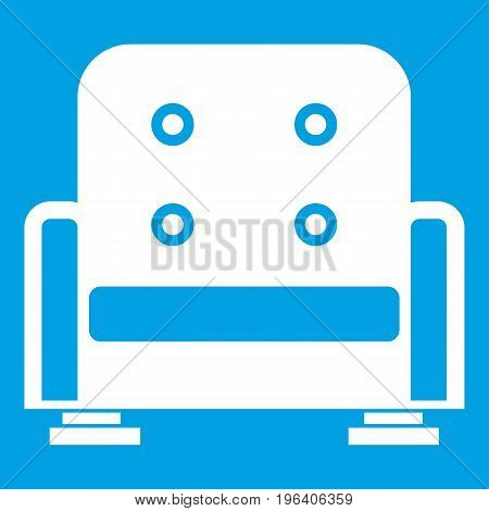 Armchair in simple style isolated on white background vector illustration