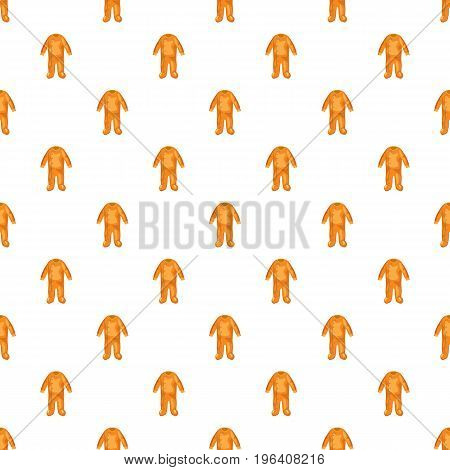 Jumpsuit for baby pattern seamless repeat in cartoon style vector illustration
