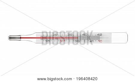 Medical thermometer fever isolated on white background 3D rendering