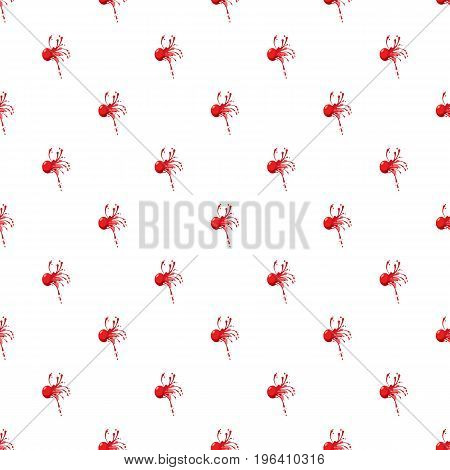 Red ball paintball pattern seamless repeat in cartoon style vector illustration