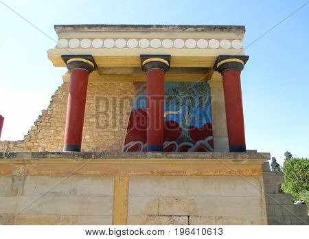 Remains of Ancient Customs House in Knossos, UNESCO World Heritage Site on Crete Island, Greece