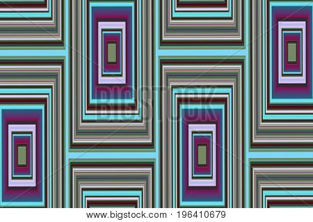 Abstract geometric background 4. Symmetric color pattern from rectangles.