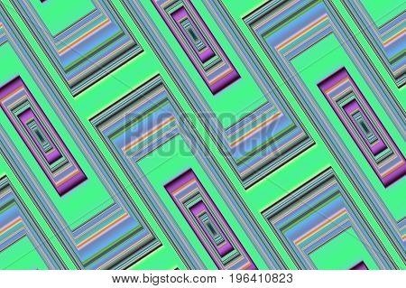 Abstract geometric background 6. Symmetric color pattern from rectangles.