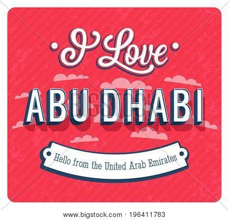 Vintage Greeting Card From Abu Dhabi - United Arab Emirates.