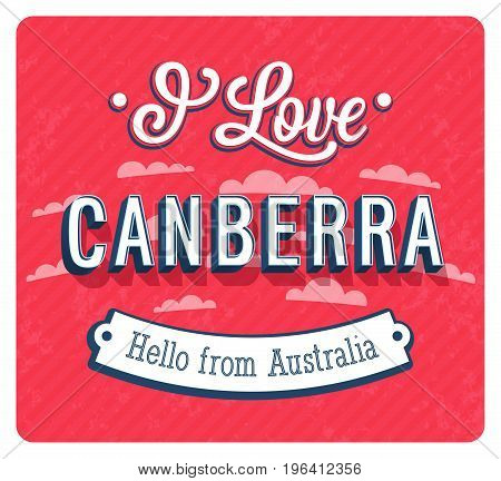 Vintage Greeting Card From Canberra - Australia.