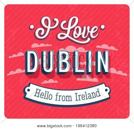Vintage Greeting Card From Dublin - Ireland.