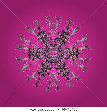 Snowflake ornament Vector. Snowflake ornament object. Snowflake ornament on a colorful background.