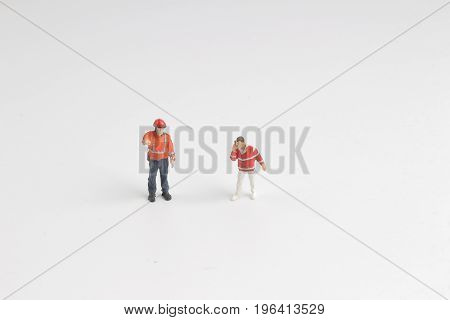 Figure Of Paramedics Of Toys Going To Help Patient
