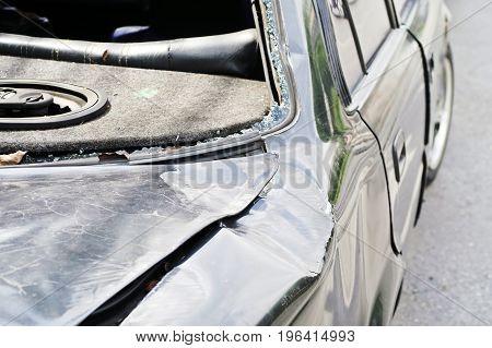 detail image of Car Crash background texture