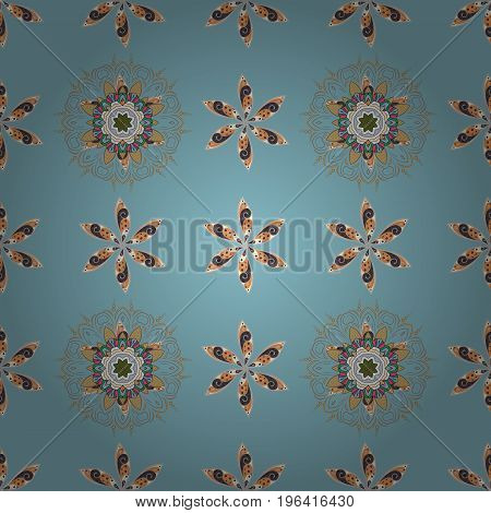 Blossom lilies seamless background. Amazing collage paradise style for floral design. Bright floral collage blossom flowers.