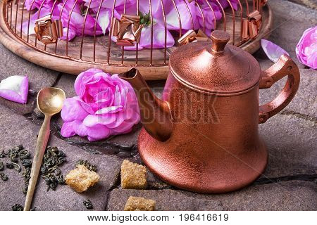 Herbal Tea With Tea Rose