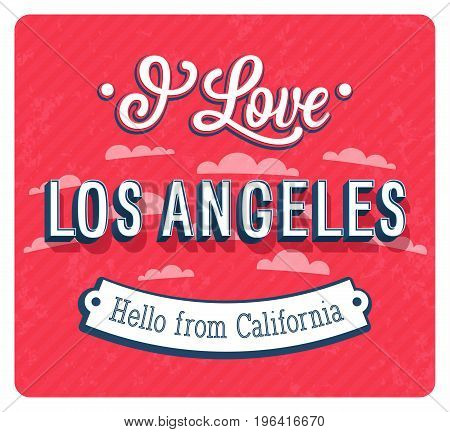 Vintage Greeting Card From Los Angeles - California.