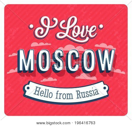 Vintage Greeting Card From Moscow - Russia.