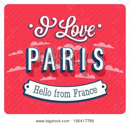 Vintage Greeting Card From Paris - France.